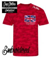 002 EMBROIDERED CAMO T-SHIRT - AVAILABLE IN 4 COLOURS